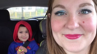 Kirsti Mardell, and her 6-year-old son, Quentin who has a non-verbal form of autism.